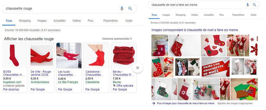Comment s'affichent les image dans la recherche Google